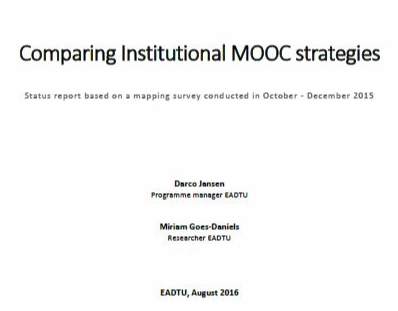 Comparing Institutional MOOC strategies